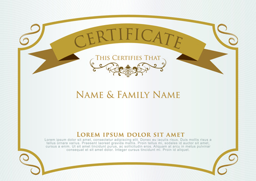 Certificate template free vector download (13,916 Free vector) for - certificate templat