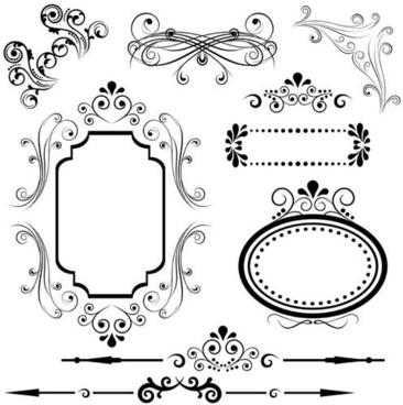 Decorative swirl line borders free vector download (38,011 Free
