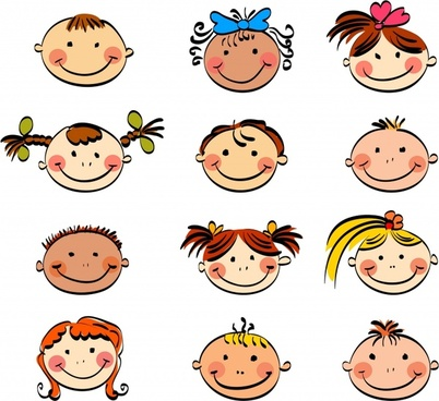 Cartoon face free vector download (18,685 Free vector) for