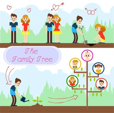 Family tree free vector download (5,728 Free vector) for commercial