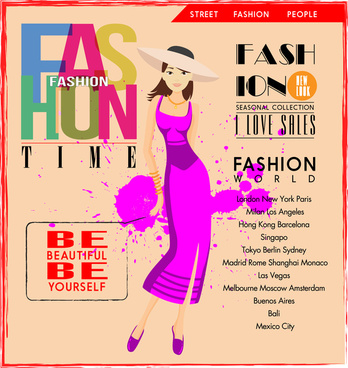 Fashion poster free vector download (9,602 Free vector) for
