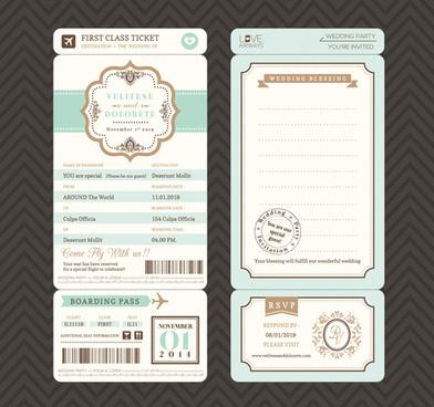 Postcard wedding invitations template free vector download (15,829