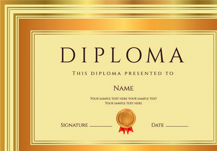 Diploma certificate template free vector download (16,496 Free