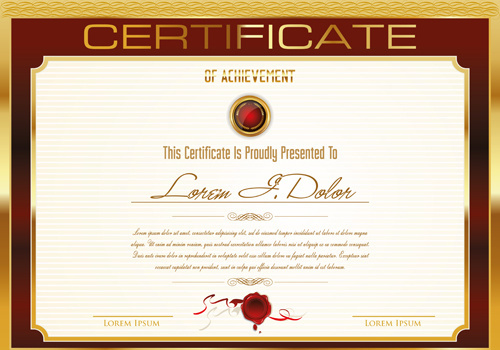 Certificate template adobe illustrator free vector download (222,437 - certificate templat
