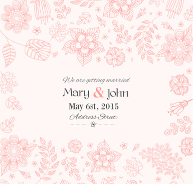 Free vintage floral wedding invitation template downloads free
