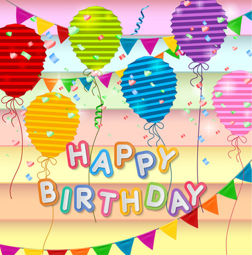 Happy birthday card template vector coreldraw free vector download - template for a birthday card