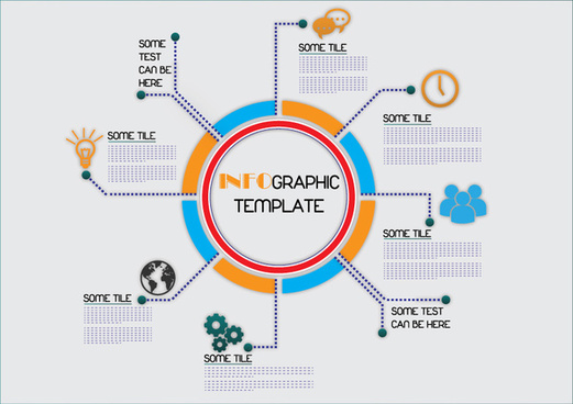 Vector process infographic free vector download (5,548 Free vector