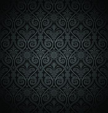 Black damask background free vector download (53,010 Free vector