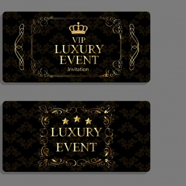 Creative event invitation card design free free vector download
