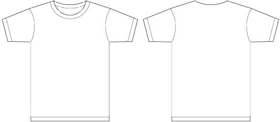 Black t shirt template front and back free vector download (23,626