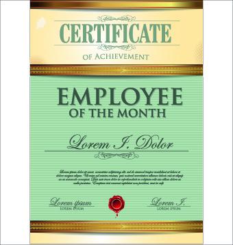 Modern certificate design free vector download (6,433 Free vector - certificate design format