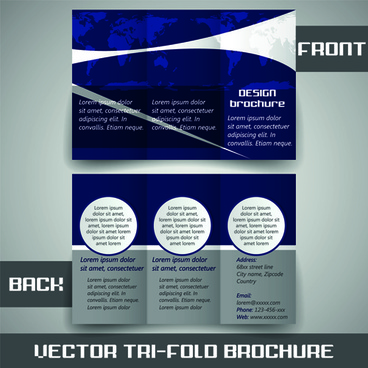 Tri fold brochure template free vector download (14,445 Free vector - tri fold business brochure
