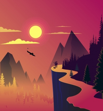 3d Falling Leaves Animated Wallpaper Vector Landscape For Free Download About 560 Vector