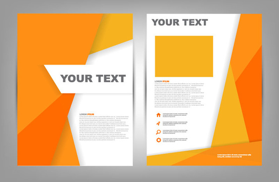 Brochure cover page design free vector download (7,499 Free vector