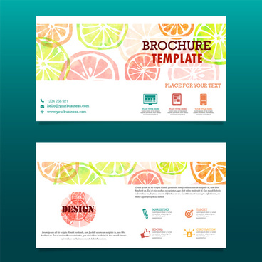 Technology brochure template free vector download (17,664 Free