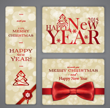 Christmas new year cards free vector download (20,815 Free vector
