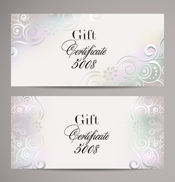 Gift certificate template free vector download (18,910 Free vector