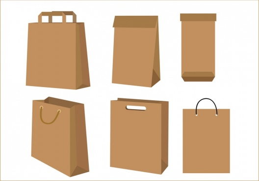 Paper bags free vector download (5,412 Free vector) for commercial