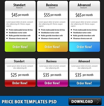 Price list template free psd download (345 Free psd) for commercial - price list templates