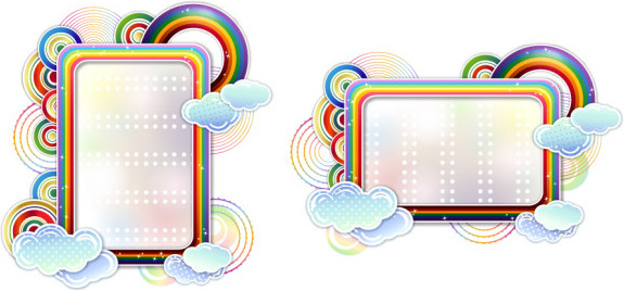 Rainbow page border free vector download (7,688 Free vector) for - rainbow page border