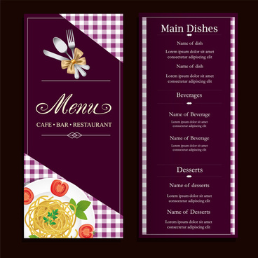 Restaurant menu card designs free vector download (14,654 Free
