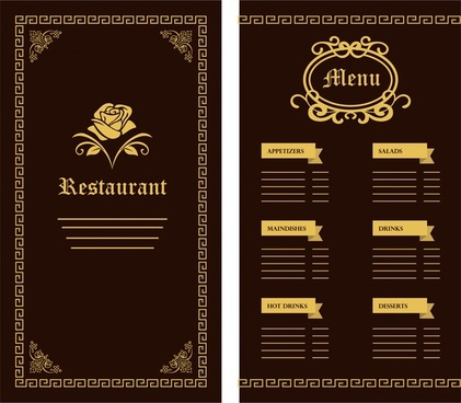 Restaurant menu template free vector download (14,710 Free vector