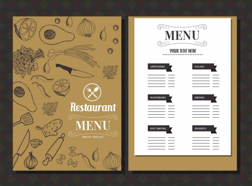 Restaurant menu template free vector download (15,060 Free vector