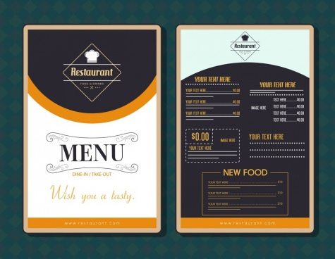 Restaurant menu template free vector download (17,626 Free vector