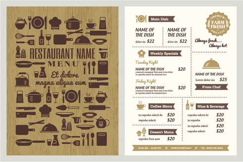 Restaurant menu template free vector download (16,537 Free vector