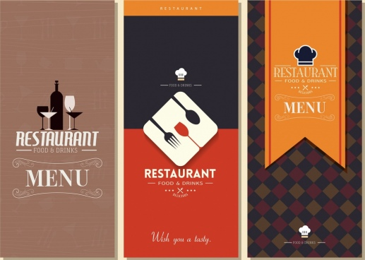 Restaurant menu design template free vector free vector download
