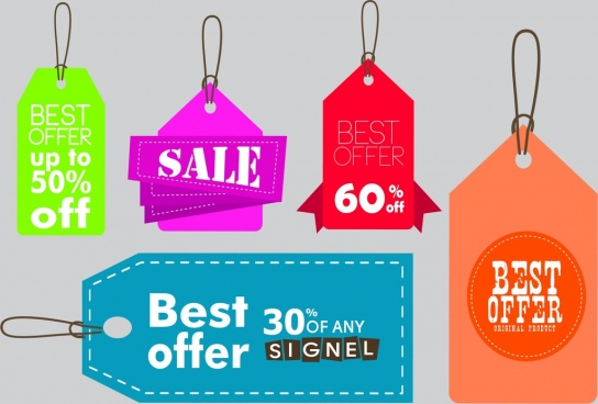 Vector hang tag template free vector download (15,312 Free vector - sale tag template