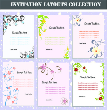 Birthday invitation layout free vector download (4,854 Free vector