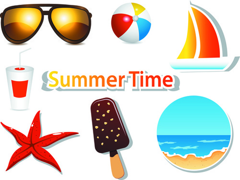 Vector summer time clip art free vector download (218,799 Free