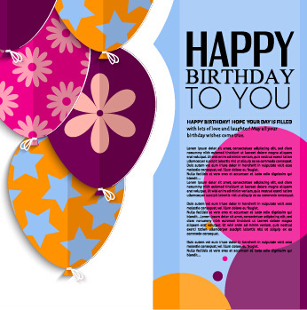 Birthday greeting card template free vector download (22,746 Free - birthday card template