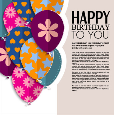 Birthday greeting card vector free vector download (13,614 Free - template for a birthday card