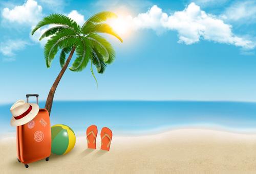Cartoon family summer beach free vector download (20,611 Free vector