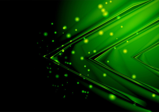 Free 3d Scenic Wallpaper Green Abstract Background Vector Free Vector Download