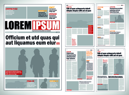 Newspaper template free vector download (16,170 Free vector) for