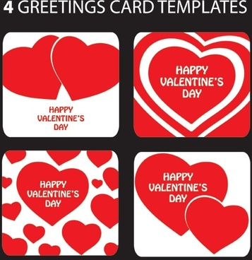 Romantic husband and wife love greeting card free vector download