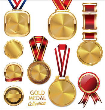 Free gold medal design template free vector download (18,170 Free