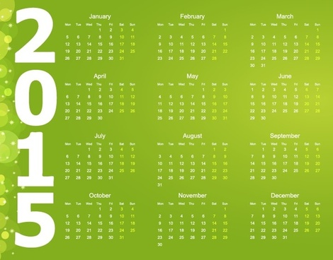 Calendar 2015 2018 free vector download (2,178 Free vector) for