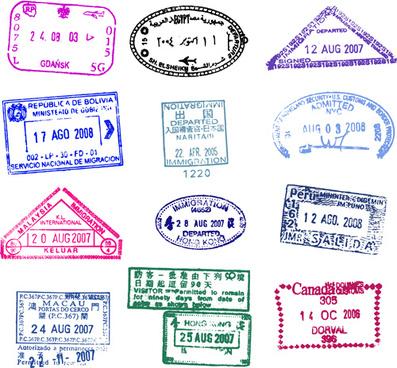 Passport stamps vector free vector download (847 Free vector) for - passport template