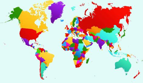 World map transparent background free vector download (52,517 Free