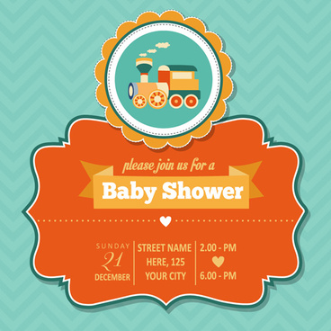 Baby shower invitation cards free vector download (13,818 Free