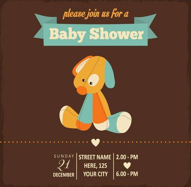 Baby shower invitations free vector download (2,645 Free vector) for