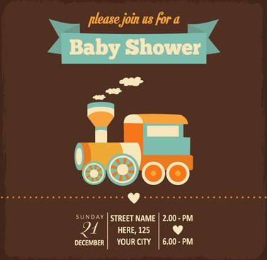 Baby shower invitations free vector download (2,665 Free vector) for