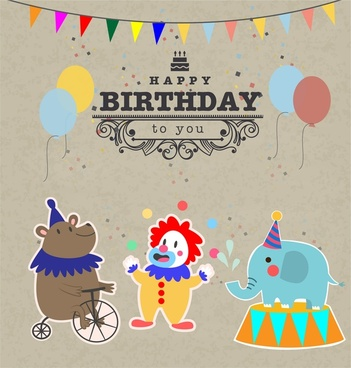 Vintage birthday invitation template free vector download (23,880