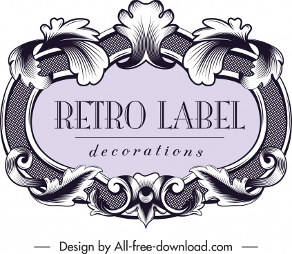 Editable vintage label template free vector download (28,797 Free