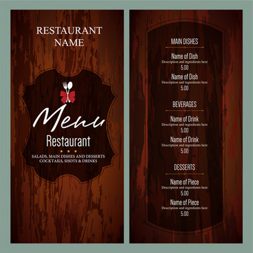 Bar and restaurant menu design template free vector download (15,179
