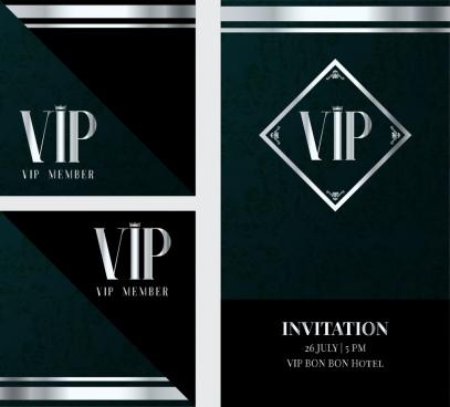 Vip membership card template vector Free vector in Coreldraw cdr - membership cards templates